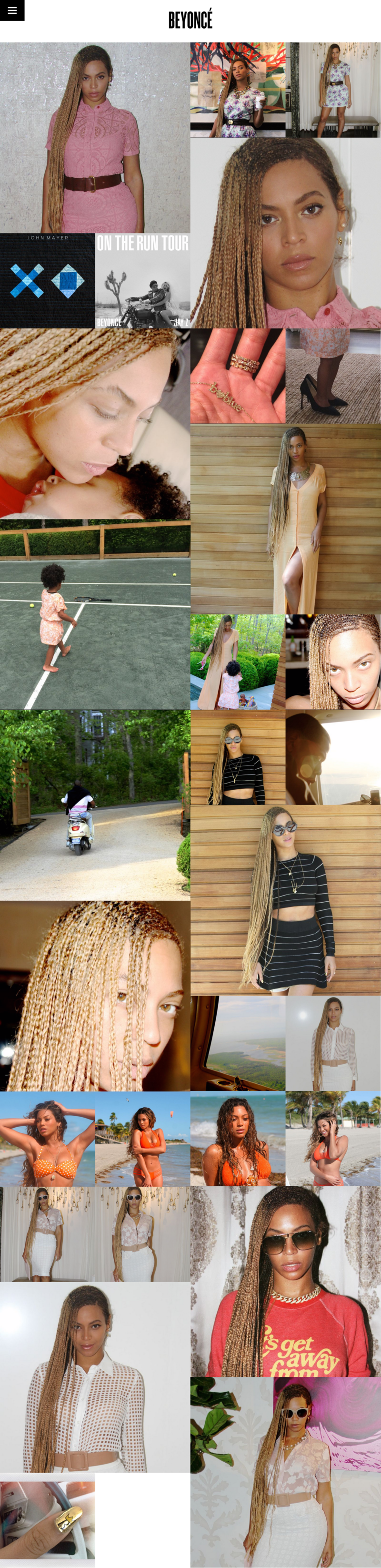 Homepage of Beyonce - home