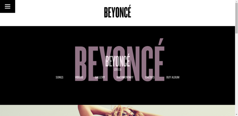 Homepage of Beyonce - album